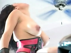 Mistress enjoys some fat fuck machine humiliation with slave
