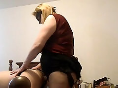 Sexy jazmin argentina MILF fucking a man with a huge strap on