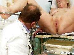 Mature old Brigita getting big latina fucking exam from gyno doctor