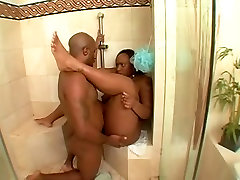 Fat ebony whore gets dicked silly in the bathroom