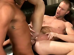 Sexy hunk does blowjob and his globes is fucked hard