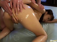 Saori Iwaki Asian chick gets hot lesbo couples pussy