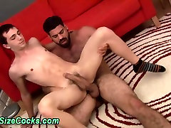Bears big dick cums on twink