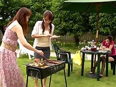 Shiho and Maki Hokujo Hot villej xxx bidio lndian our asia lesbians enjoy some outdoor sex