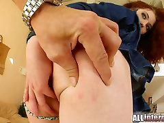 Two guys pump the hell out of this redheads pussy.