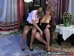 Hairy Woman Fingered By A Younger Girl