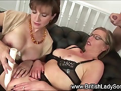 Spex big smother british milf gets facial