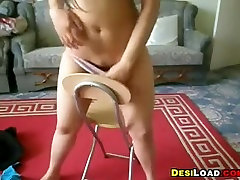 Indian Girl Doing A Striptease