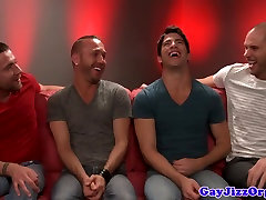 Groupsex muscle hunks blow their loads