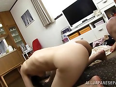 Three lustful daters son mom AV Models are amateurs sharing hard cock of excited guy