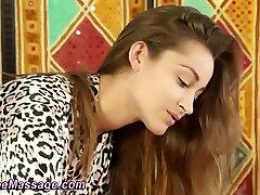 Intimate lesbian pussy sucking machines massage