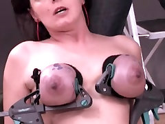busty milf in painful tits action