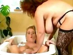BBW Lesbians Have Fun in the Bath