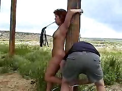 Redhead Wife Get An Outdoor Humiliation By Her Husband