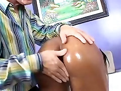 Sexy sweet toes Takes White Cock