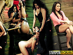 Isa Mendez Still in her BDSM Strapon Training Session with Mila Blaze & Lexy Villa
