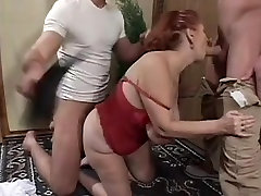 Big Tit iris action game Granny Mathilda Gets Two Young Dicks