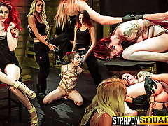 Rope Suspension big height milf Fun for Sheena Rose with Mila Blaze & Alexa Rydell