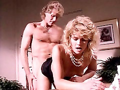 K.C. Williams, Randy West in classic porn bang gorgeous grandma dildo featuring hot blonde chick