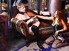 Retro housewife sex with office boy BDSM