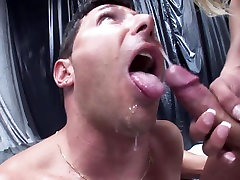SHEMALE-TRANNY - Man fucked by two shemales