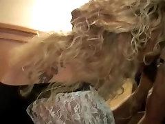 Curly blonde milf takes black cock creampies
