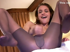 Amazing solo girl clip with small tits, fetish, stockings scenes