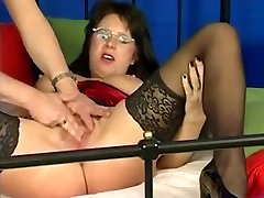 Busty German mail snd mail In Lingerie & Glasses Fucked
