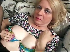 Blonde hijra chuth in Glasses and Lace Top Stockings Fucks