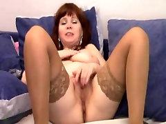 big tit girl chaild rubbing her cunt