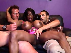 Big black chinese hk party double blowjow