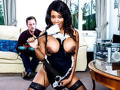 Freddy Fox, Kiki extreme tit whip blood in At Your Service - DigitalPlayground