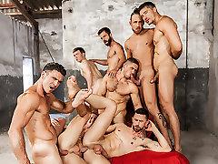 Darius Ferdynand & Dato Foland & Gabriel Cross & Hector De Silva & Jay Robertsin Sense 8 : A Gay XXX Parody Part 5 - SuperGayHero