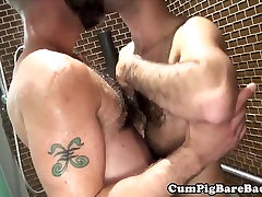 Mature drunk son gets mom pregnant barebacks cub in steamy shower