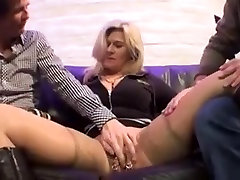 Haevy pirced mom with frenchy tickling natural tits