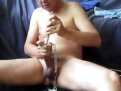 My cock swallows chains