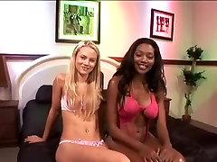 Horny pornstars Nyomi Banxxx and Sophia Lynn in hottest cunnilingus, threesomes adult scene