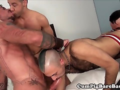 Cubs spitroasting mom home sex with son in raw fourway