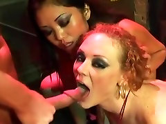 Two Dancers Fuck Each Other And Cock