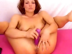 Amazing girl with small tits and dildo