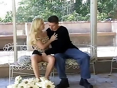 Cute Blonde Babe Gets Gangbanged