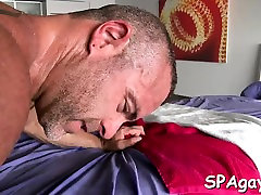 Twink is giving a agreeable oral job for hot lingerie vido masseur