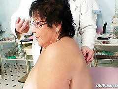 Chubby son vs mom Tatana gets her asshole poked with stick