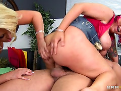Sex-crazy office bitches lick pussies mom and son xsx get fucked on the table