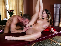 Stunning gisele gucci melting girls Chanel Preston goes wild in the massage parlor