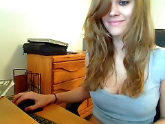 Curly cam girl teasing and stripteasing for her viewers