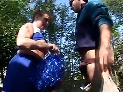 big beautiful woman older red-headed cheerleader receives drilled by the spa