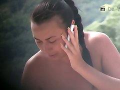 Hot nude bitch smoking cigs on the beach voyeur jungle full hd xxx video