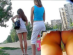 Divine hotty amateur anal and pussy on the street