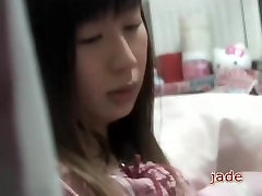 Asian wwwxxxx vedeo in pyjamas masturbates in cute voyeur porn video
